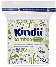 Perfumería y cosmética Discos de algodón veganos con viscosa de bambú, 60uds. - Cleanic Kindii Bamboo Cotton Pads