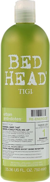Champú revitalizante para cabello normal - Tigi Bed Head Urban Antidotes Re-energize Shampoo — imagen N3