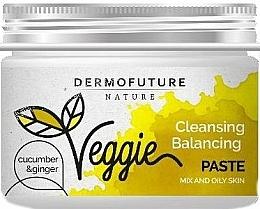 Perfumería y cosmética Pasta de limpieza facial exfoliante natural con extracto de jengibre y pepino - DermoFuture Ginger & Cucumber Pasta