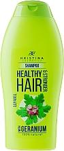 Perfumería y cosmética Champú natural con extracto de geranio - Hristina Cosmetics Healthy Hair & Stronger With Geranium Shampoo