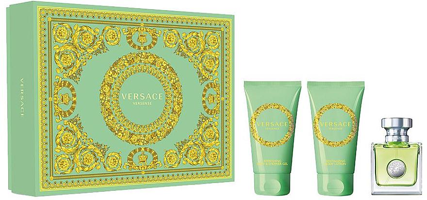 Versace Versense - Set (eau de toilette/50ml + loción corporal/50ml + gel de ducha/50ml)
