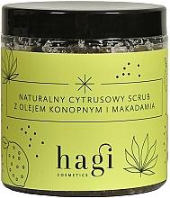Perfumería y cosmética Exfoliante natural cítrico con cáñamo y aceite de macadamia - Hagi Scrub