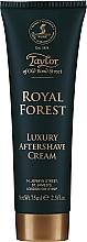 Perfumería y cosmética Taylor of Old Bond Street Royal Forest Aftershave Cream - Crema aftershave hidratante, sin alcohol