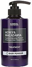 Perfumería y cosmética Acondicionador con extracto de miel y aceite de macadamia, aroma a talco de bebé - Kundal Honey & Macadamia Treatment Baby Powder
