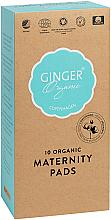 Perfumería y cosmética Compresas postparto de algodón orgánico, 10uds. - Ginger Organic