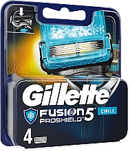 Perfumería y cosmética Recambios de cuchillas, 4uds. - Gillette Fusion Proshield Chill