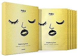 Perfumería y cosmética Set mascarillas faciales de tejido iluminadoras - Pibu Beauty Brightening Mask Set (f/mask/5x29ml)