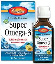 Perfumería y cosmética Complemento alimenticio de aceite concentrado de Omega 3 con sabor a limón, en líquido 2600mg - Carlson Labs Super Omega 3 Norwegian Fish Oil Concentrate Lemon 2600