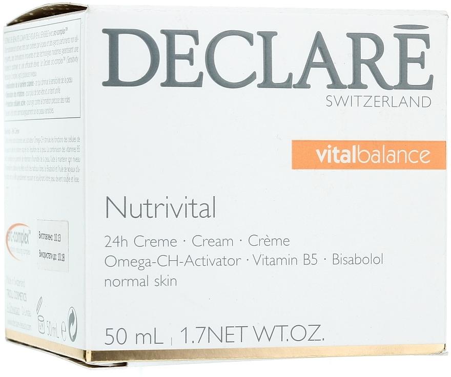Mascarilla facial nutritiva con bisabolol y aceite de semilla de albaricoque - Declare Nutrivital 24 h Cream — imagen N1