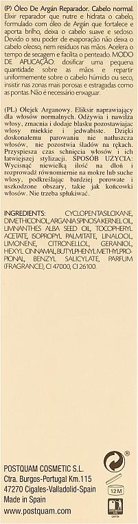 Elixir para cabello con aceite de argán - PostQuam Argan Sublime Hair Care Normal Hair Elixir — imagen N3