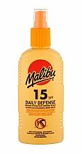 Perfumería y cosmética Spray protector solar corporal, SPF 15 resistente al agua - Malibu Daily Defense SPF15