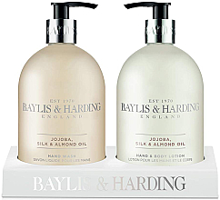 Perfumería y cosmética Set - Baylis & Harding Royal Bouquet Jojoba, Silk and Almond Oil (loción para manos y cuerpo/500ml + jabón de manos líquido/500ml)