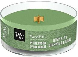 Perfumería y cosmética Vela aromática en vaso ''Hemp & Ivy'' - WoodWick Petite Candle Hemp And Ivy