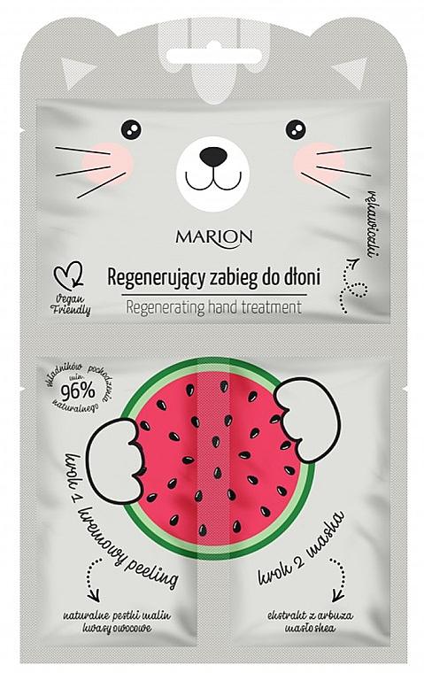 Tratamiento regenerador de manos con manteca de karité y extracto de sandía - Marion Funny Animals Regenerating Hand Treatment