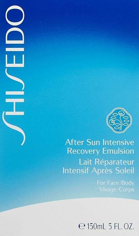 Emulsión aftersun para cuerpo y rostro con extracto de raíz de escutelaria - Shiseido Suncare After Sun Intensive Recovery Emulsion — imagen N4