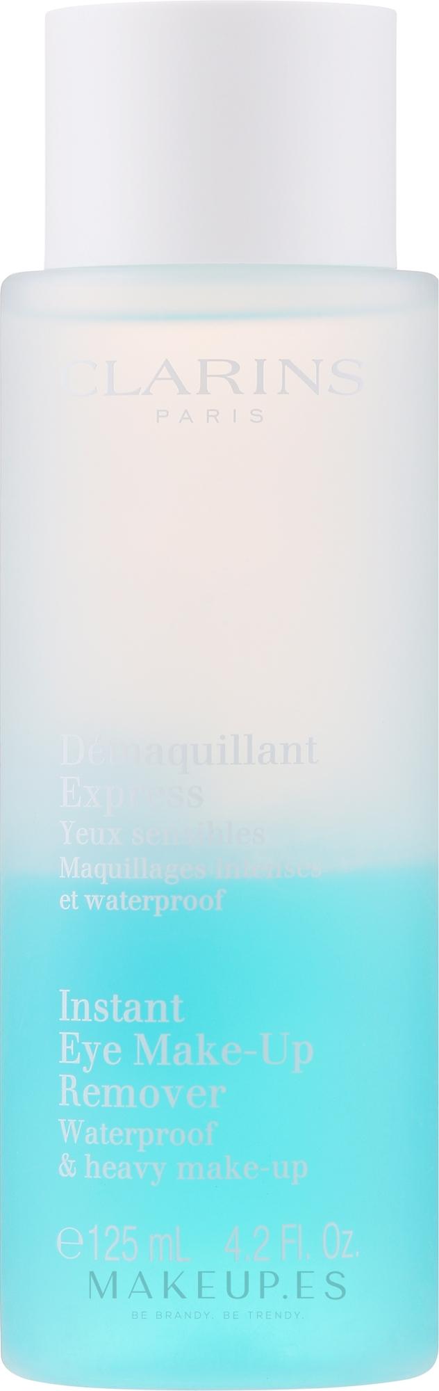 Desmaquillante bifásico resistente al agua para pieles sensibles - Clarins Instant Eye Make-Up Remover — imagen 125 ml