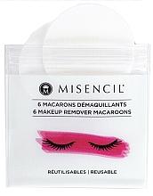 Perfumería y cosmética Macarrones desmaquillantes para extensiones de pestañas y pestañas naturales, 6uds. - Misencil Makeup Remover Macaroons