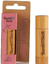 Perfumería y cosmética Manteca labial con sabor a fresa - Bamboostick Strawberry Bamboo Natural Care Lip Butter