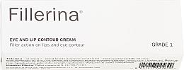 Perfumería y cosmética Crema para contorno de ojos y labios con ácido hialurónico, grado 1 - Fillerina Eye And Lip Contour Cream Grade 1