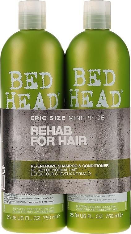 Set para cabellos normales - Tigi Bed Head Rehab For Hair Kit (champú/750ml + acondicionador/750ml)
