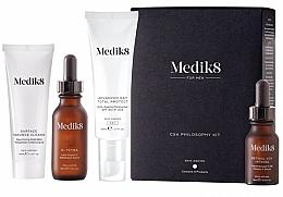 Perfumería y cosmética Medik8 CSA Philosophy Kit For Men - Kit facial para hombres (gel limpiador/40ml + sérum con retinol/30ml + crema de día antiedad/50ml + sérum con vitamina C/15ml)