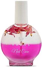 Perfumería y cosmética Aceite de uñas y cutículas bifásico de ginseng y extracto de té verde - Kabos Nail Oil Pink Flowers