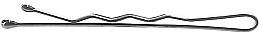Perfumería y cosmética Horquillas planas plateadas, 4cm - Lussoni Waved Hair Grips Silver 4 cm