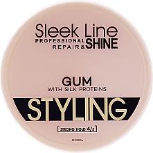 Perfumería y cosmética Gomina moldeadora de cabello con proteínas de seda, fijación extra fuerte - Sleek Line Styling Gum With Silk