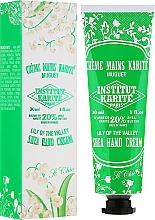 Perfumería y cosmética Crema de manos con karité, aroma a lirio de los valles para pieles secas - Institut Karite So Chic Hand Cream Lily Of The Valley