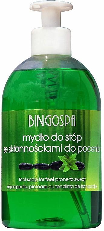 Jabón para pies líquido con tendencia a sudar con aloe - BingoSpa Feet Soap