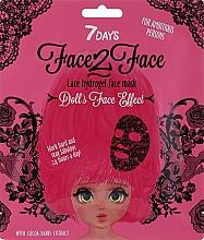 Perfumería y cosmética Mascarilla facial de tejido e hidrogel con extracto de cacao - 7 Days Face2Face Lace Hydrogel Mask Cocoa Beans