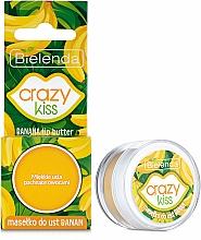 Perfumería y cosmética Manteca de labios con karité, aroma a plátano - Bielenda Crazy Kiss Banana Lip Butter