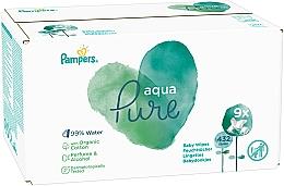 Perfumería y cosmética Toallitas húmedas para bebés de algodón orgánico sin perfume ni alcohol - Pampers Aqua Pure Wipes
