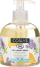 Perfumería y cosmética Gel para lavado de manos bio con aceite esencial de lavanda y limón sin jabón - Coslys Hand & Nail Care Hand Wash Cream Lemon & Lavender