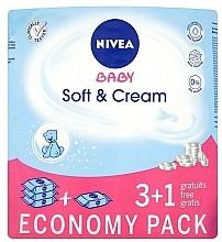 Perfumería y cosmética Toallitas húmedas para bebés 4x63uds. - Nivea Baby Soft & Cream
