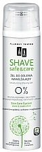Perfumería y cosmética Gel de afeitar con extracto de aloe vera - AA Shave Safe&Care