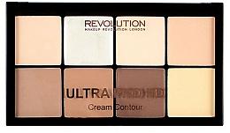 Perfumería y cosmética Paleta de contorno facial en crema, vegana - Makeup Revolution HD Pro Cream Contour
