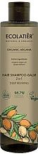 Perfumería y cosmética Champú acondicionador 2en1 vegano con aceite orgánico de argán y extracto de uva - Ecolatier Organic Argana Hair-Shampoo Balm