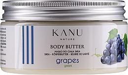 Perfumería y cosmética Manteca corporal con karité orgánico, aroma a uvas griegas - Kanu Nature Greek Grape Body Butter