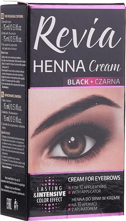 Tinte en crema para cejas y pestañas - Revia Eyebrows Henna