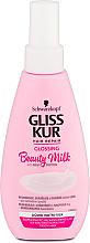 Perfumería y cosmética Loción para cabello con proteínas de leche sin aclarado - Gliss Kur Repairing Beauty Milk
