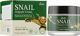 Perfumería y cosmética Crema facial reparadora con baba de caracol - Ekel Snail Ampule Cream