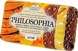 Perfumería y cosmética Jabón con gránulos de salvado y nuez, aroma a ciruela y caqui - Nesti Dante Philsophia Scrub Soap