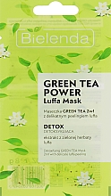 Perfumería y cosmética Mascarilla facial detox con té verde - Bielenda Green Tea Power Luffa Mask 2in1