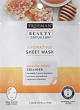 Perfumería y cosmética Mascarilla facial de tejido con colágeno y miel de manuka - Freeman Beauty Infusion Hydrating Cream Mask Manuka Honey + Collagen