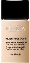 Perfumería y cosmética Base de maquillaje fluida de larga duración con ácido hialurónico, SPF 30 - Filorga Flash Nude SPF 30
