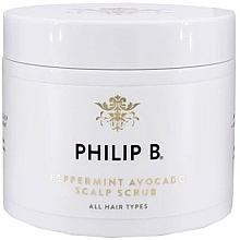 Perfumería y cosmética Exfoliante para cuero cabelludo con aceite de aguacate y menta - Philip B Peppermint Avocado Scalp Scrub