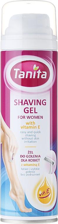 Gel de depilación con vitamina E - Tanita Body Care Shave Gel For Woman