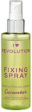 Perfumería y cosmética Spray fijador de maquilalje refrescante e hidratante con aroma a pepino - I Heart Revolution Fixing Spray Cucumber