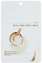 Perfumería y cosmética Mascarilla facial de tejido con extracto de arroz - Eunyul Daily Care Mask Sheet Rice